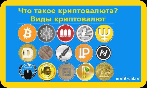 Что такое криптовалюта? Виды криптовалют
