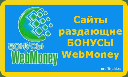 Бонусы вебмани